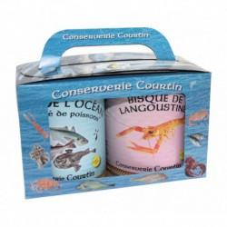 Coffret d'une soupe de l'océan et d'une bisque de langoustine