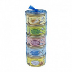 Set of 5 fish spreads (130 gr)