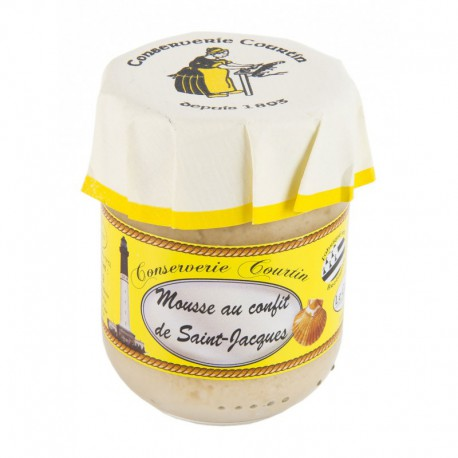 80 gr glass jar of scallop mousse