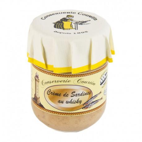 80 gr glass jar of sardines and creamy whisky spread