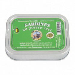 Sardines au poivre vert Lot-à l'unité
