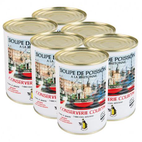 Lot de 6 soupes de poissons à la bretonne