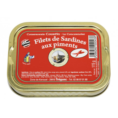 Filets de sardines aux piments