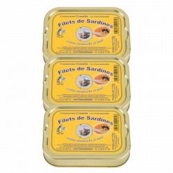 Lot de 3 filets de sardines moutarde et miel