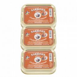 Lot de 3 sardines à l'andouille de guéméné