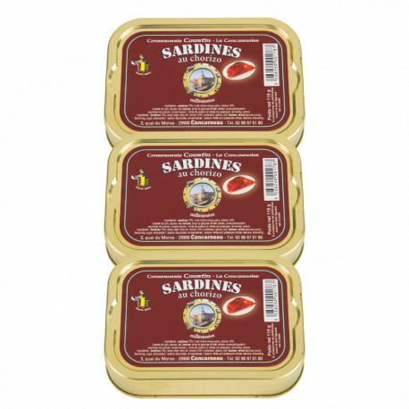 Lot de 3 sardines au chorizo