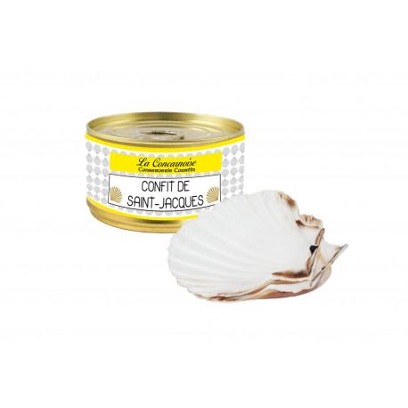 130 gr scallop confit + 2 empty shells