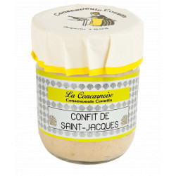 360 gr glass jar scallop confit