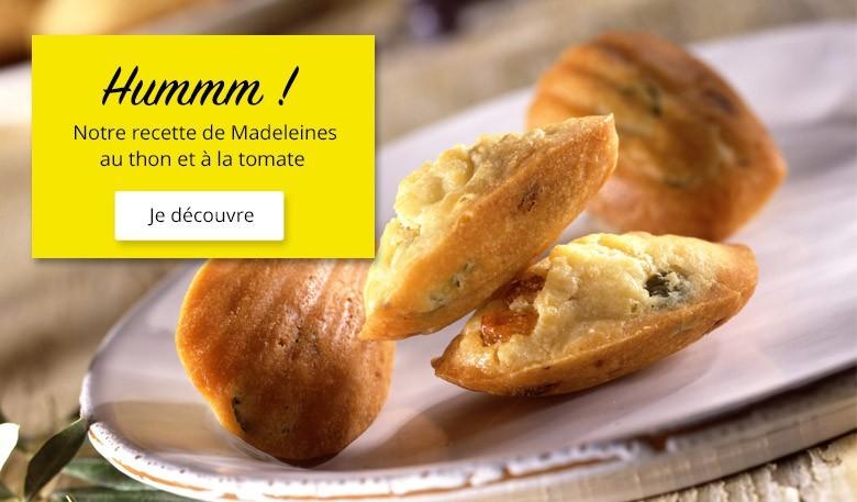 recette madeleines au thon et à la tomate