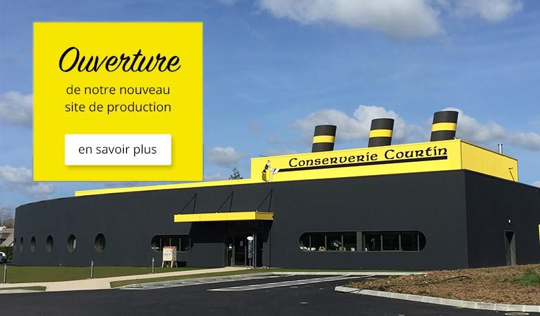ouverture nouveau site de production Conserverie Courtin